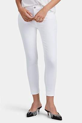 J Brand Women's Mid-Rise Skinny Crop Jeans - White