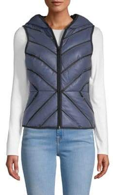 Blanc Noir Mesh Inset Reflective Puffer Vest