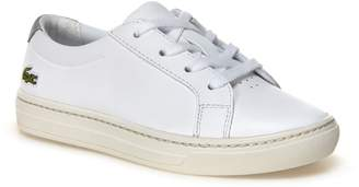 Lacoste Kids' L.12.12 Leather Trainers