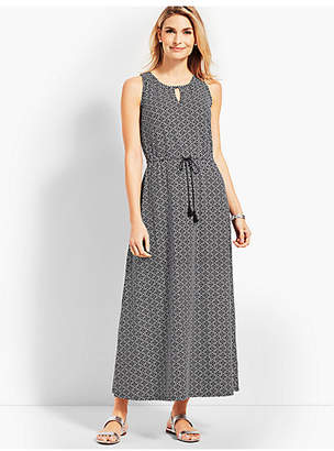 Talbots Avalon Tiles Casual Jersey Maxi Dress