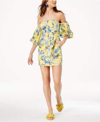 J.o.a. Strapless Floral-Print Dress