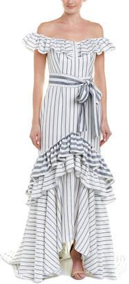 Alexis Linen-Blend Gown