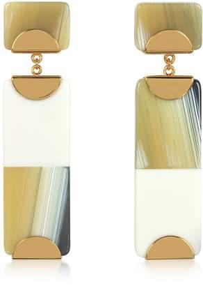 Tory Burch Resin Color-block Drop Earrings
