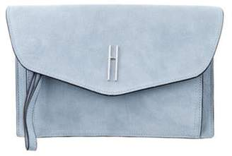 Hayward Suede Envelope Clutch blue Suede Envelope Clutch