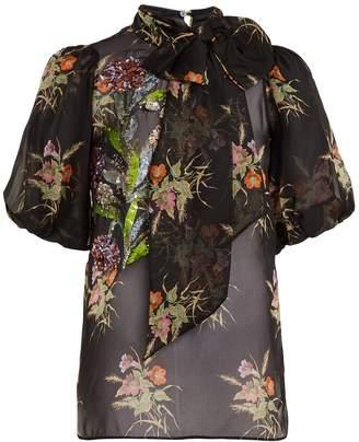 No.21 NO. 21 Floral-print silk-chiffon blouse