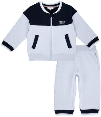 HUGO BOSS Quilted Tracksuit and T-Shirt Set