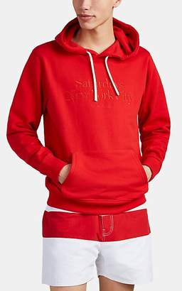 Saturdays NYC Men's Logo-Embroidered Cotton French Terry Hoodie - Red