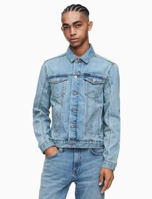 Calvin Klein light wash trucker jacket