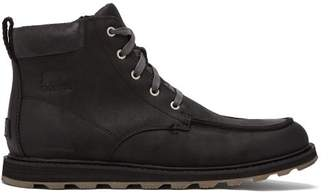 Sorel Madson Moccasin Toe Leather Hiking Boots - Mens - Black