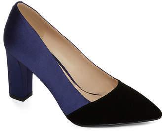 Liz Claiborne Womens Lc Agnes Pumps Pull-on Pointed Toe Block Heel
