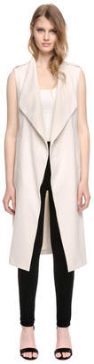 Soia & Kyo CHERILYN long sleeveless vest with draped collar