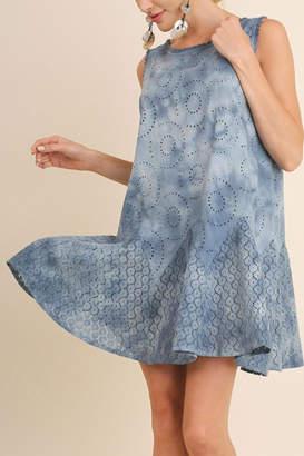 Umgee USA Tie-Dye Eyelet Dress