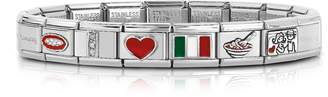 Nomination Classic That's Italy Sterling Silver and Stainless Steel Bracelet
