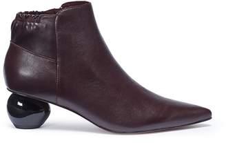 Pedder Red 'Oba' egg heel leather ankle boots