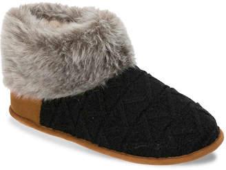 Dearfoams Textured Knit Bootie Slipper - Women's