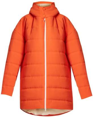 A.w.a.k.e. - Oversized Quilted Padded Coat - Womens - Orange