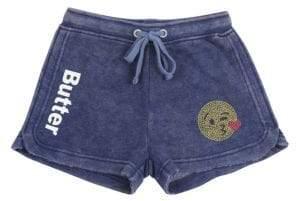 Butter Shoes Little Girl's Rhinestone Varsity Shorts