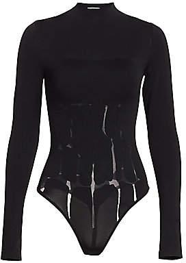 Wolford Women's #WILDLIFE Shield Illusion Animal Print Bodysuit