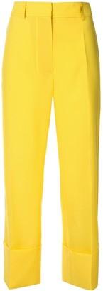 Rochas wide leg cropped trousers