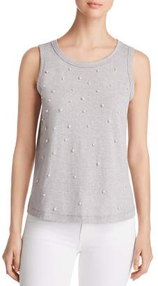 Alison Andrews Faux-Pearl Embellished Tank