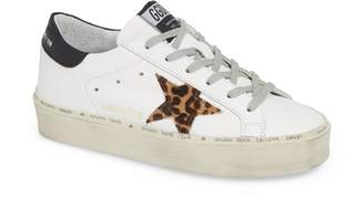 Golden Goose Hi Star Genuine Calf Hair Platform Sneaker