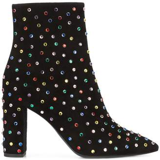 Saint Laurent jewelled Betty 95 ankle boots