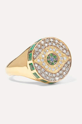 Ileana Makri - Dawn Candy Chevalier 18-karat Gold Multi-stone Ring