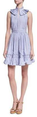 Alexis Briley Striped Poplin Mini Dress