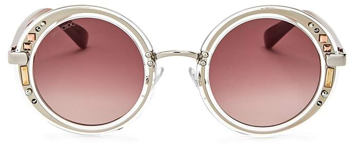 Jimmy Choo Jimmy Choo Gem Round Sunglasses, 48mm