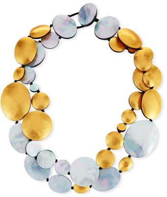 Viktoria Hayman Two-Strand Disc Necklace