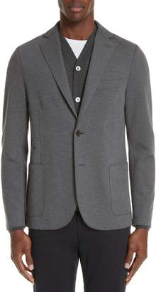 Eleventy Slim Fit Stretch Cotton Blend Sport Coat