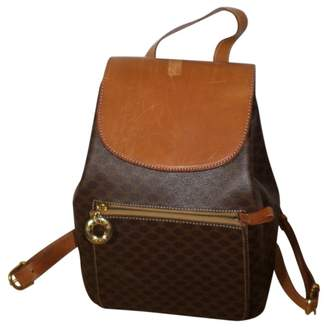 Celine Vintage Brown Cloth Backpacks