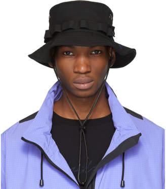 Yohji Yamamoto Black Wool Signature Bucket Hat