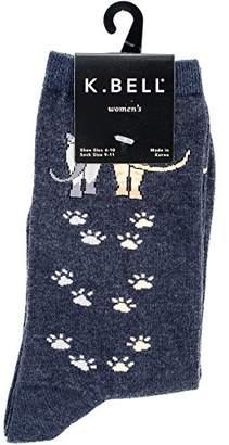 K. Bell Women's Single Pack Playful Animal Novelty Socks,9-11