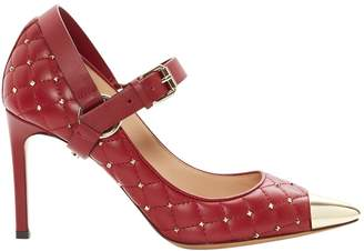 Valentino Burgundy Leather Heels