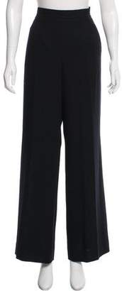 Rena Lange Wool High-Rise Pants