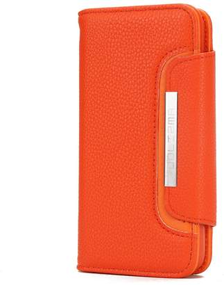 Lunazoe iphone 6/7/8/x leather wallet wide buckle and mobile phone shell separable two in one structural design cover
