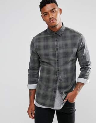 Asos Design DESIGN skinny denim check shirt