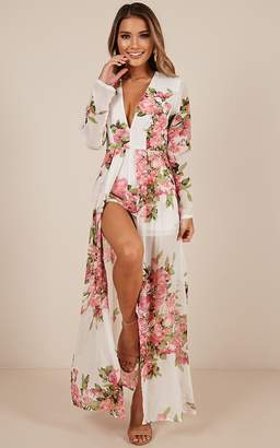 5326a9dfbae7 Showpo Steal the Show playsuit in white floral - 20 (XXXXL) Maxi