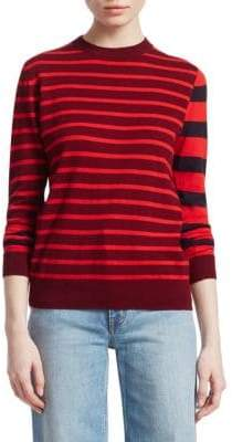 Derek Lam 10 Crosby Striped Crewneck Sweater