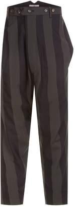Vivienne Westwood Striped Drop Crotch Trousers