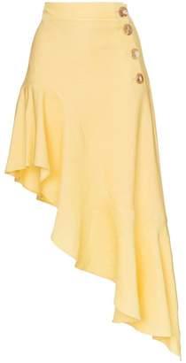 Rejina Pyo high waist asymmetric ruffle skirt