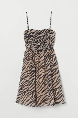 H&M Lyocell-blend Bandeau Dress - Beige