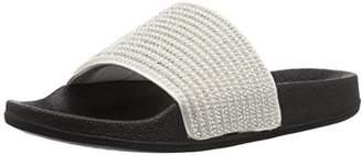 Skechers Women's Pop Ups-Halo Power-Rhinestone and Pearl Shower Slide Sandal