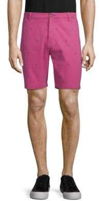 Tailorbyrd Flamingo-Print Shorts