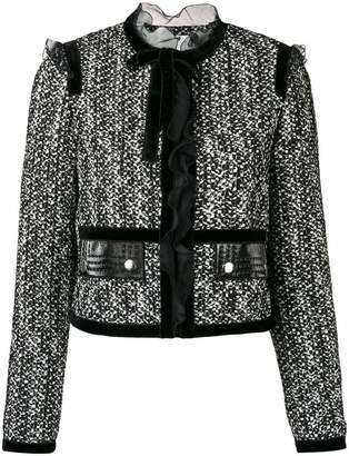 Giambattista Valli lace trim fitted jacket