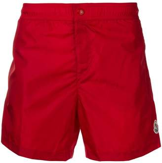 Moncler logo swim trunks