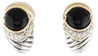 David Yurman Onyx & Diamond Capri Shrimp Earrings