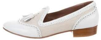 Tabitha Simmons Brogue Round-Toe Loafers