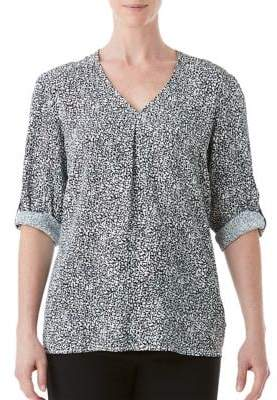 Olsen Three-Quarter Sleeve Blouse